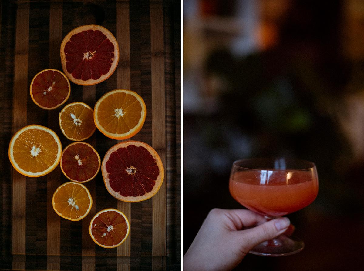 Förkylning färskpressad citrus