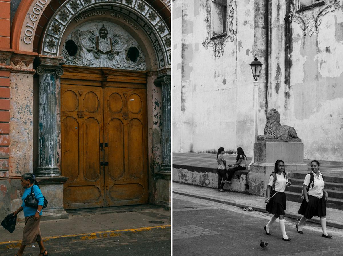 Gatufotografi från Leon i Nicaragua resefotografi
