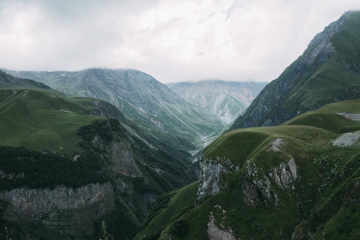 Kaukasusbergen i Georgien