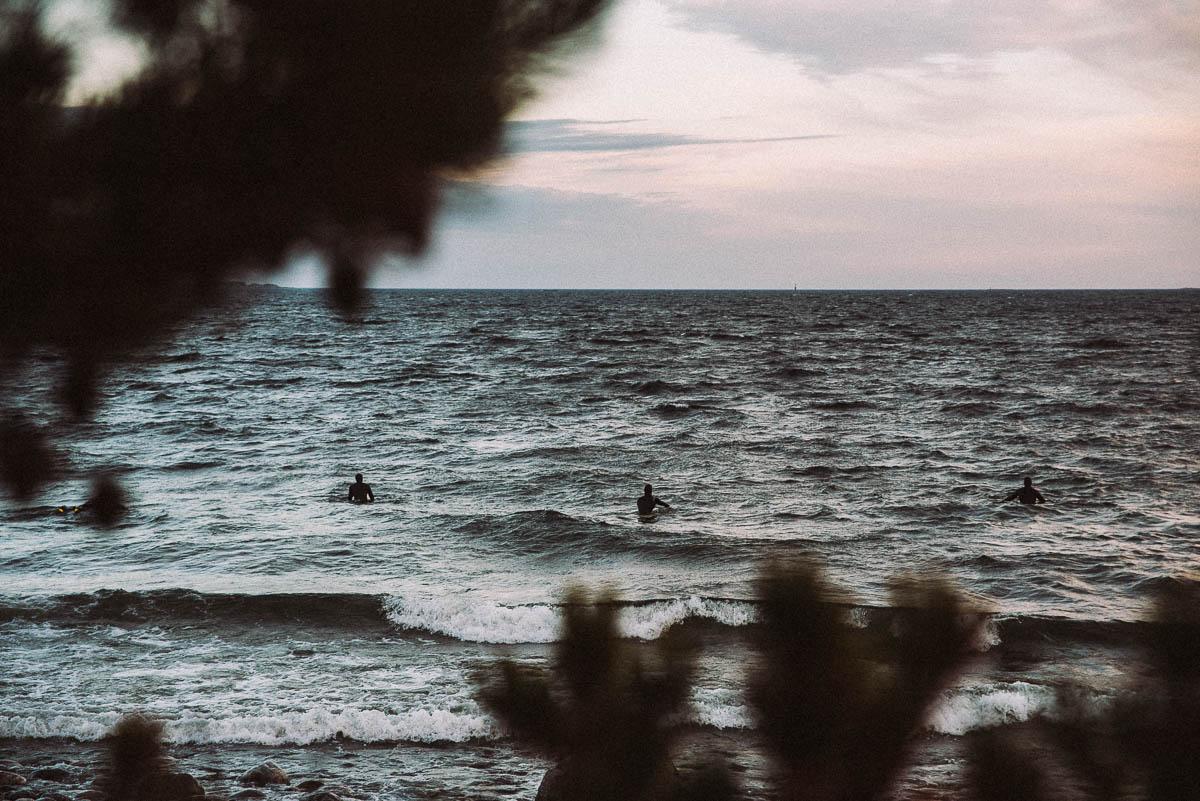 Surfa på Torö utanför Stockholm
