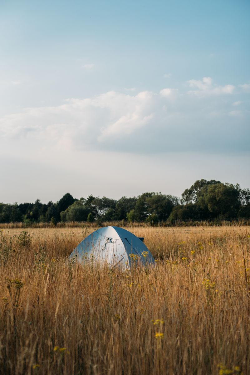 Tälta och bo på camping under en roadtrip genom Frankrike