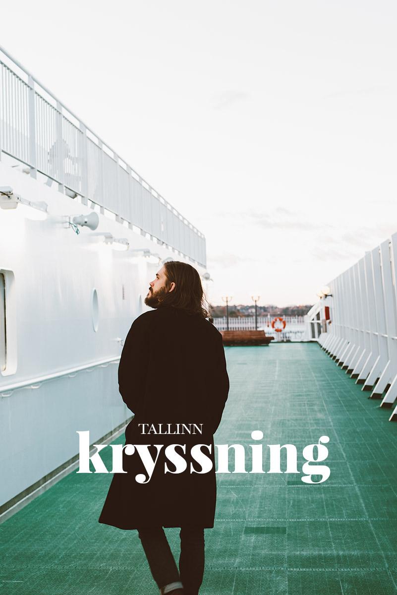 På däck med kryssning M/S Victoria på väg till Tallinn med Tallink