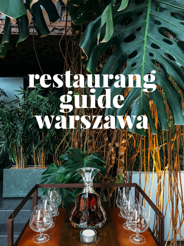 Guide till bra restauranger och caféer i Warszawa