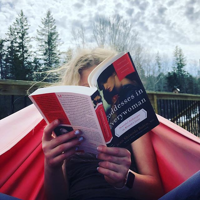Mattea and I taking advantage of the warm weather today to hang out in the hammock together. This is her last reading assignment in preparation for her coming of age ceremony this August. #goddessesineverywoman #comingofage #motherdaughtertime