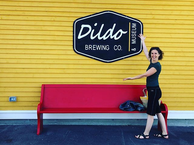 Heading out on mother-daughter camping weekend and couldn't resist stopping in the town of Dildo for a photo-op! 🍆👍
