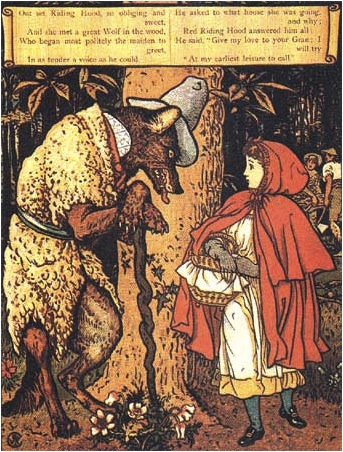 Little Red Riding Hood , 1875  Walter Crane  George Routedlge & Sons, London