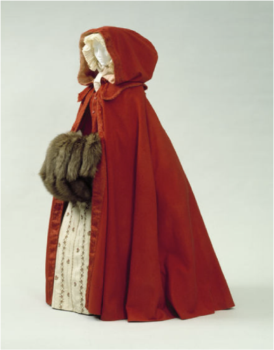 Red Wool Hooded Cape   Wool broadcloth  Metropolitan Museum of Art, New York