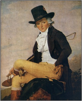 Monsieur Seriziat , 1795  Jacques-Louis David  oil on canvas  Musée du Louvre, Paris