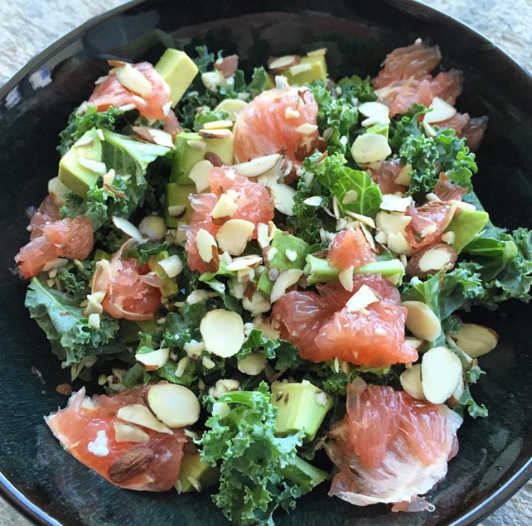 Kale, Grapefruit, & Avocado Salad
