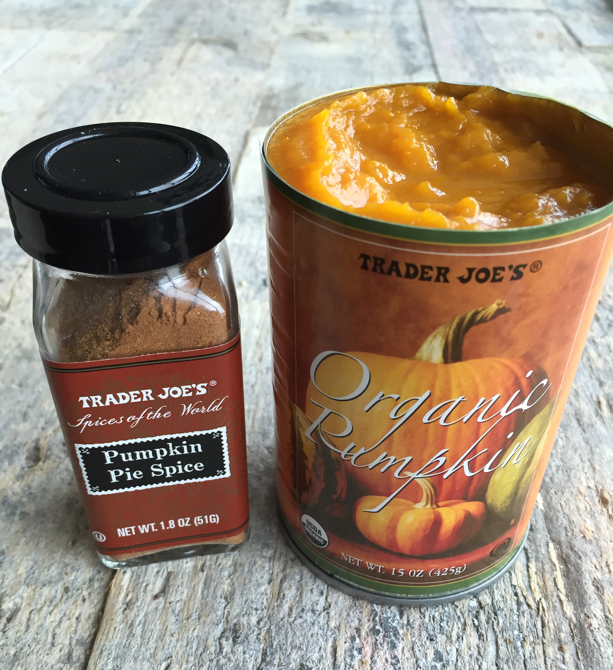 Canned pureed pumpkin and pumpkin pie spice make this recipe so simple & quick!