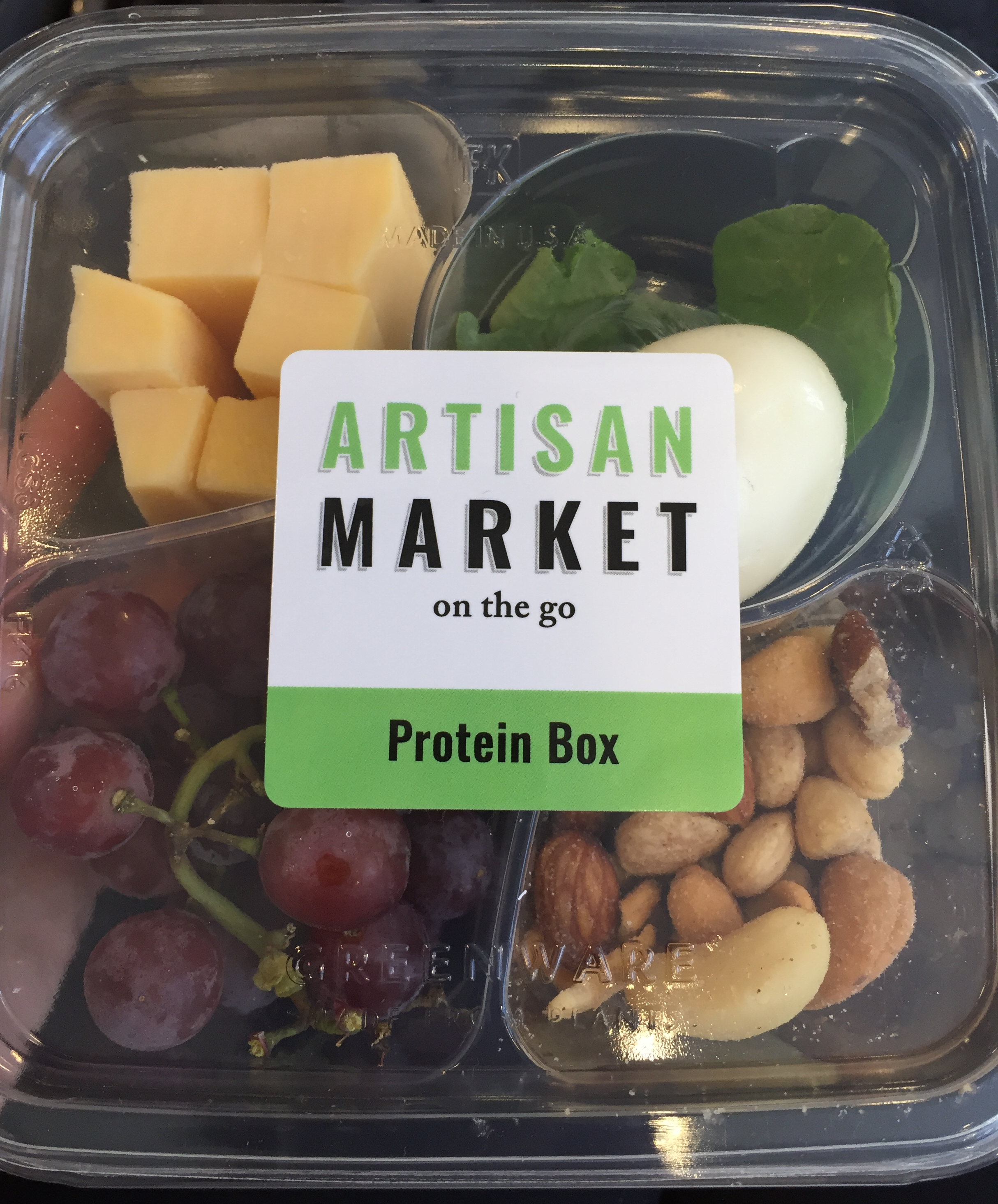 Protein boxes are packed with healthy fats, protein, and fruit.