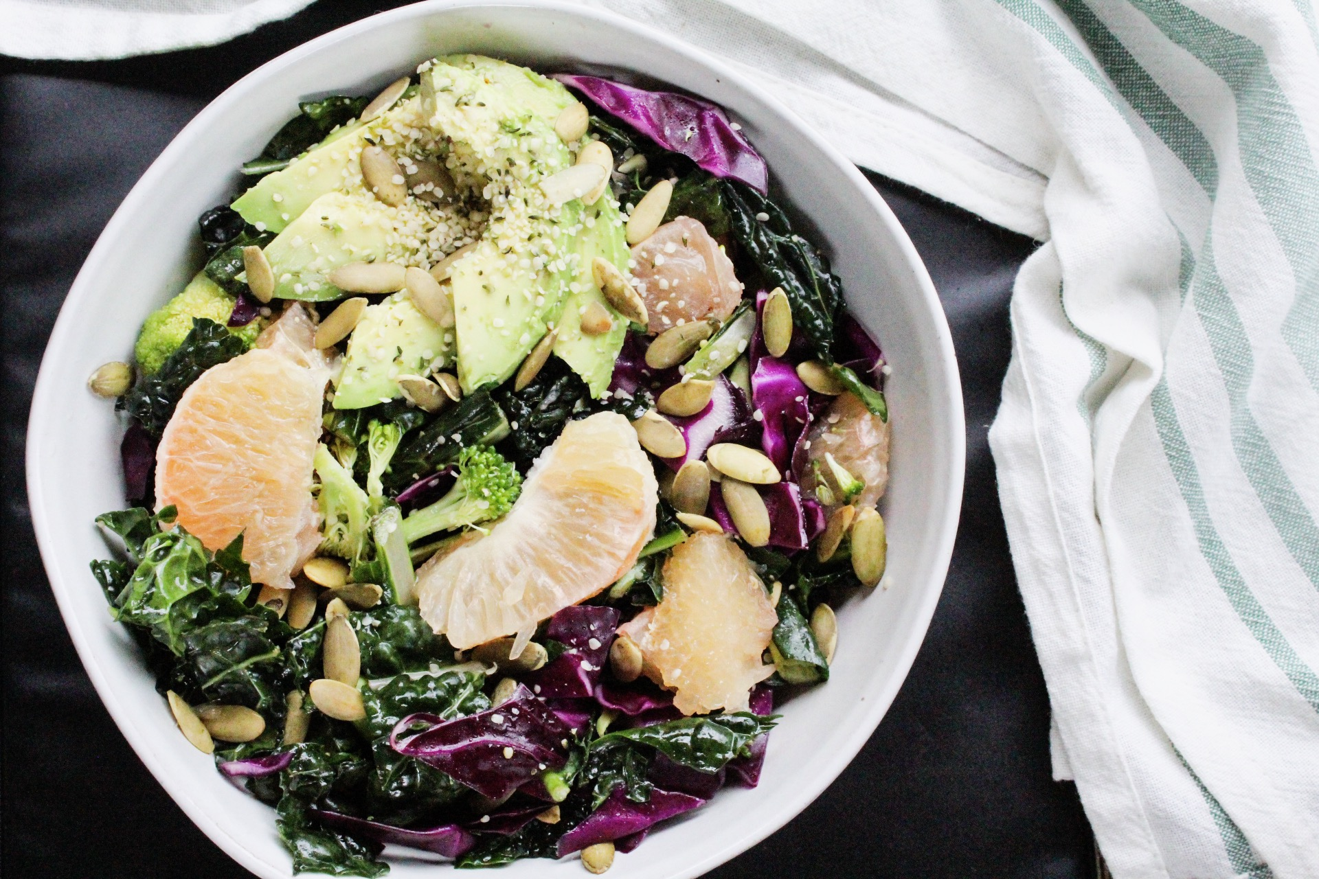 Kale, Grapefruit, Avocado Salad - Eleat Sports Nutrition