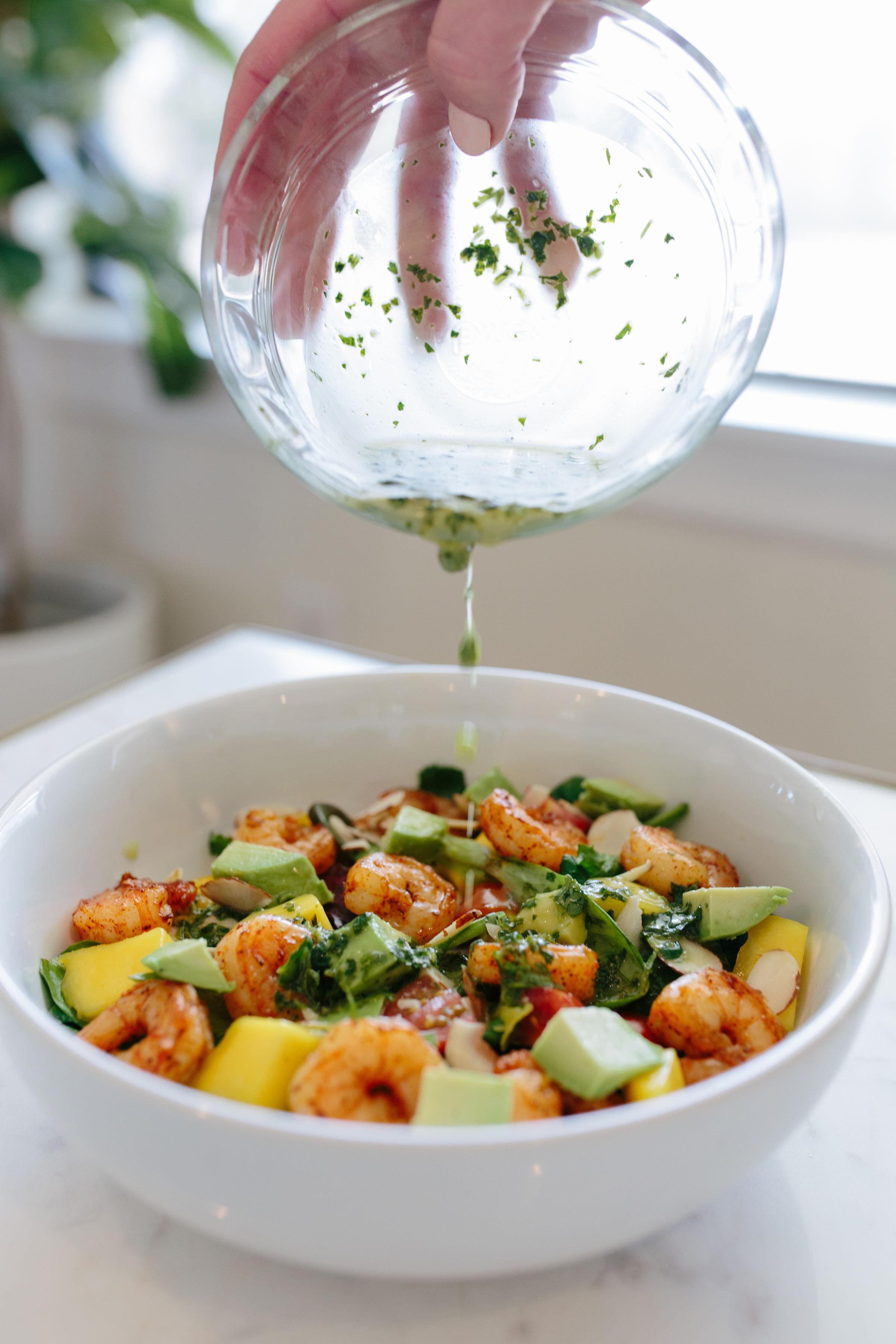 Grilled Shrimp & Mango Salad