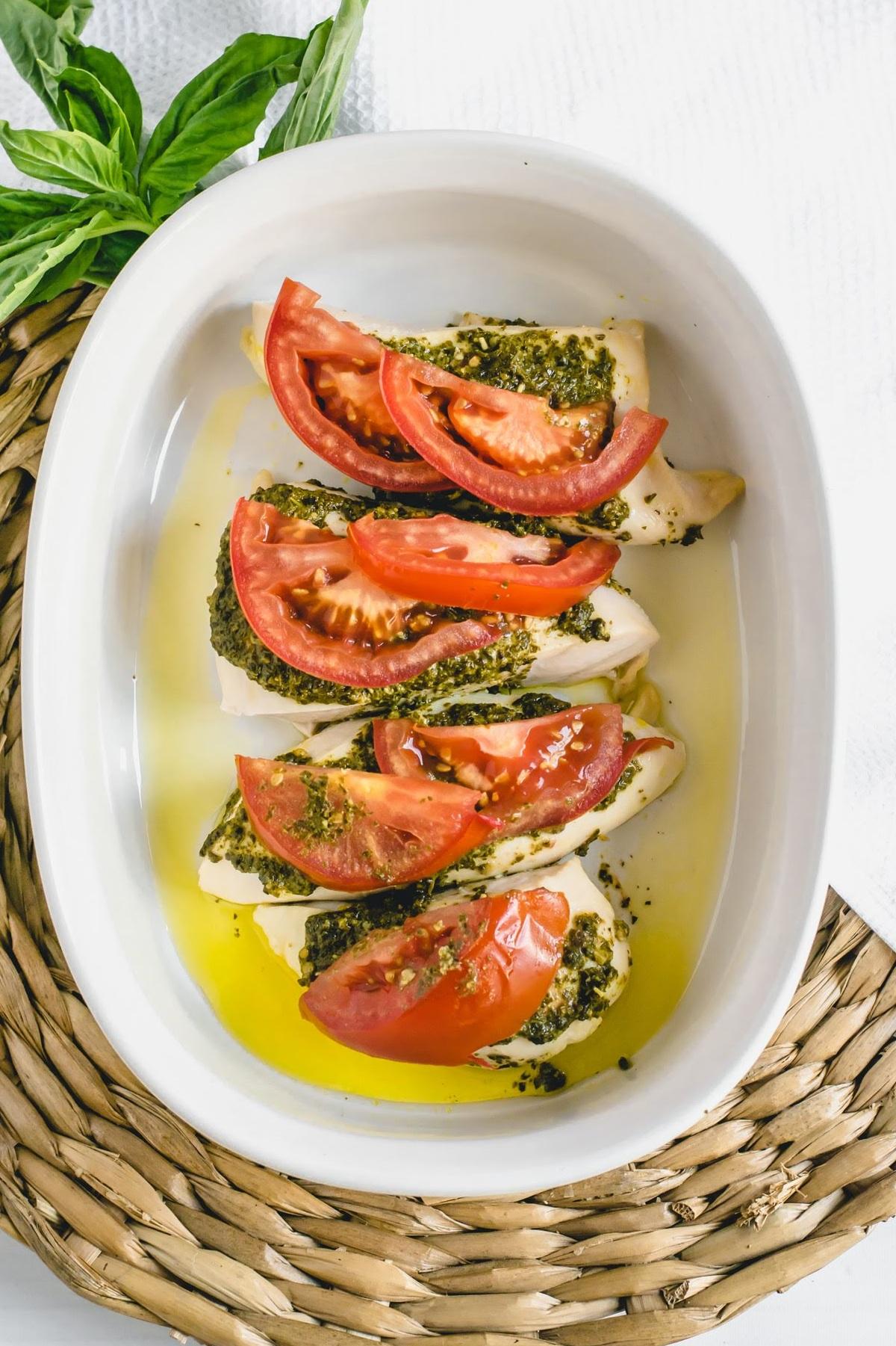 Pesto Baked Chicken - Eleat Nutrition