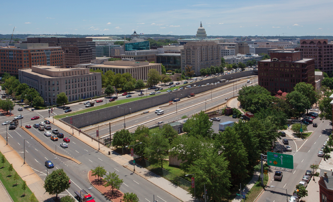 Capitol Crossing: existing site