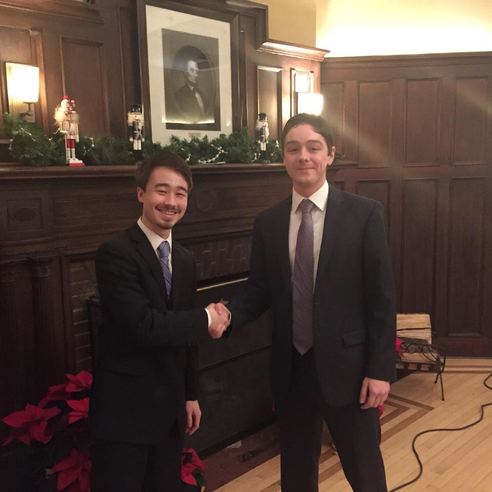2015 Treasurer Ethan Campbell and 2016 Treasurer Greg Megana