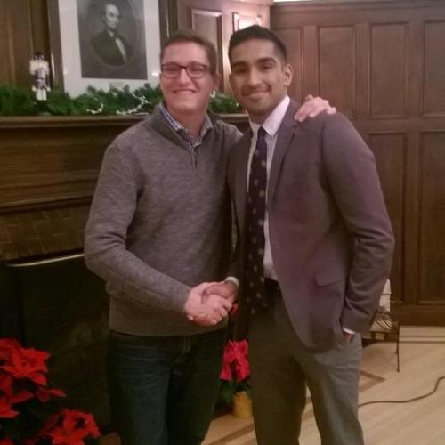 2015 Social Chair Zach Koerbel and 2016 Social Chair Likith Govindaiah