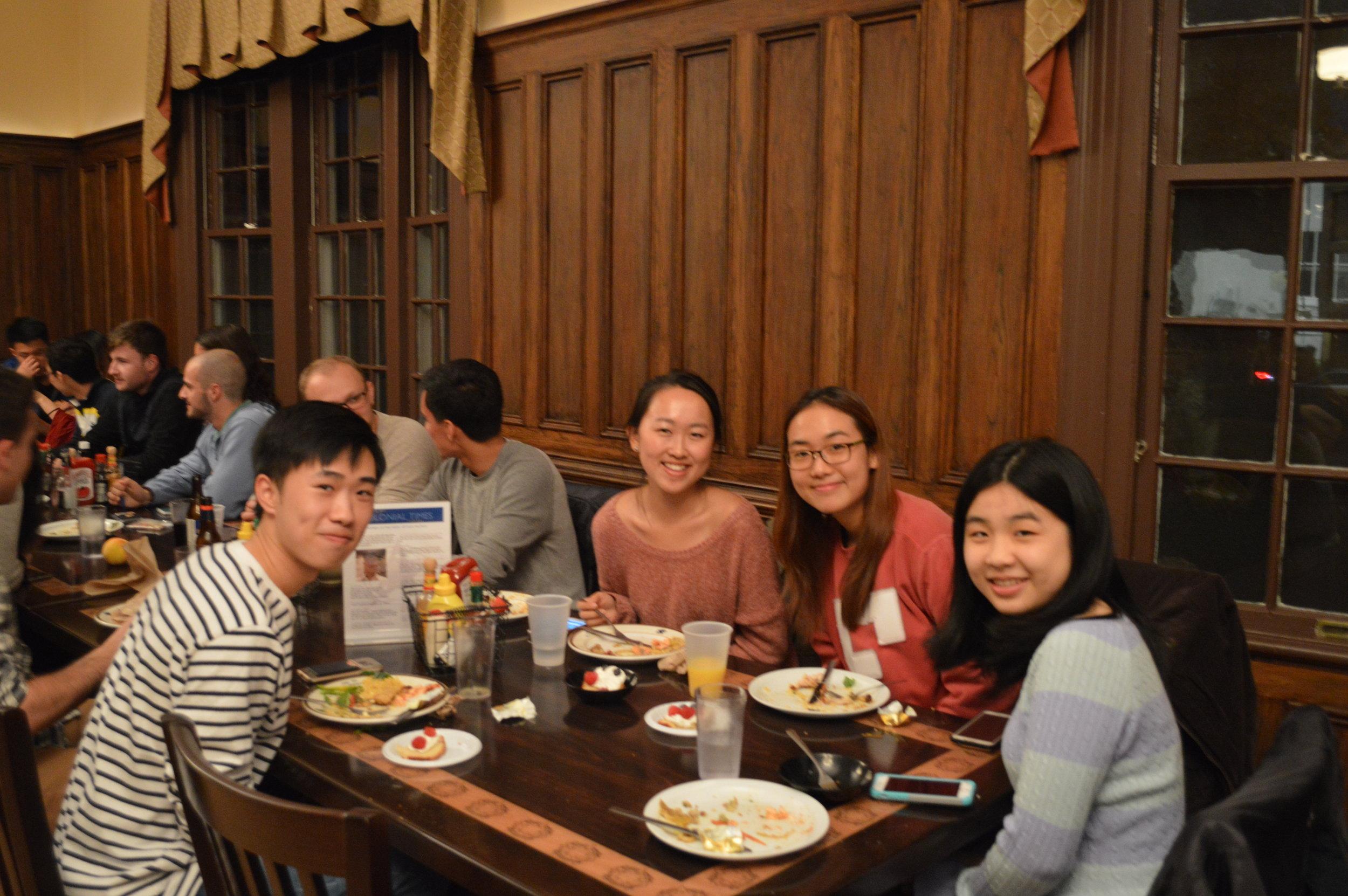 Sophomore Dinner  October 2017