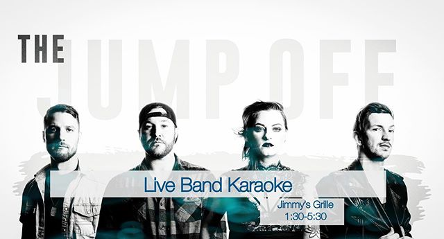 It's Saturday and you know what that means... Band Karaoke @jimmysdewey 1:30-5:30! Always wanted to be in a band? Now's your chance! Come on out, have a crush and sing a song or two. See you there!