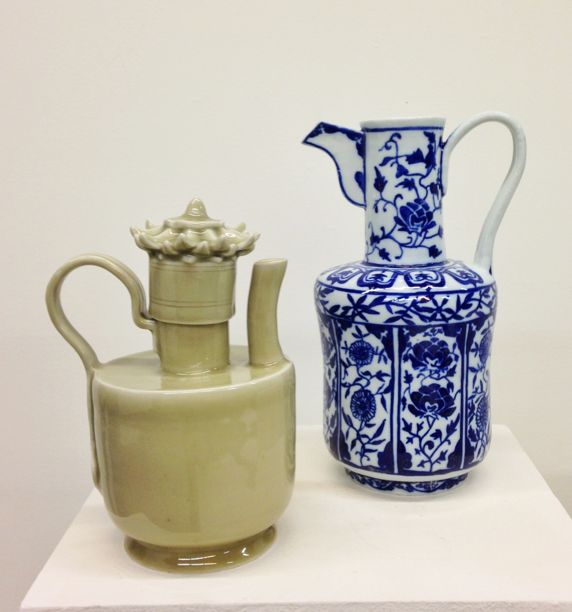 One student's recreations of objects in the Asian Art Museum's collection. This was her first ceramic's class.