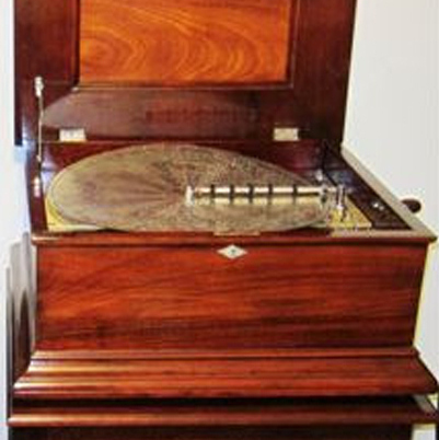 New Century Disc Shifter Music Box with Stand