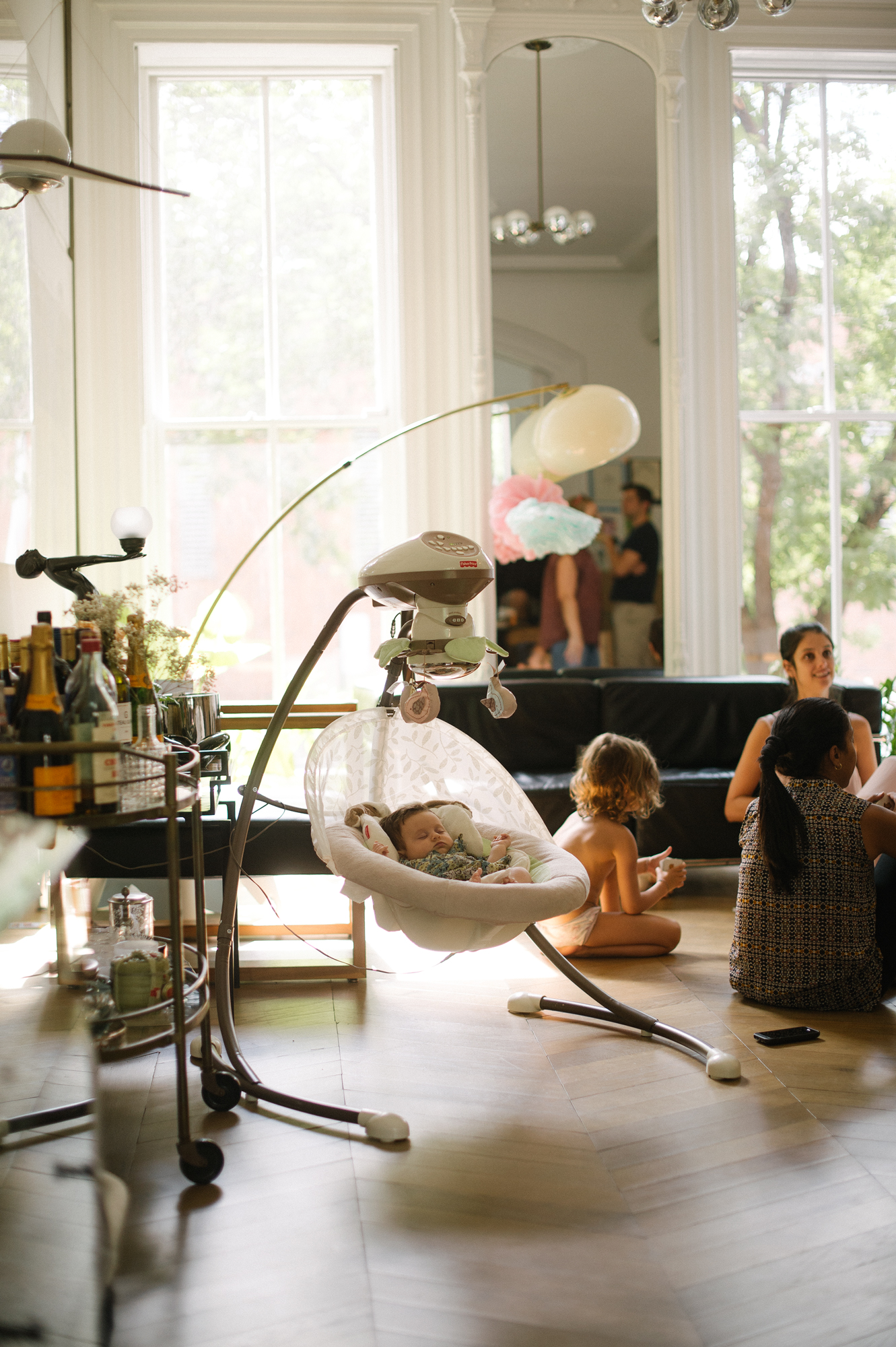 Robert Geller and family at home, photographed for GQ, Fort Green, Brooklyn, 2015
