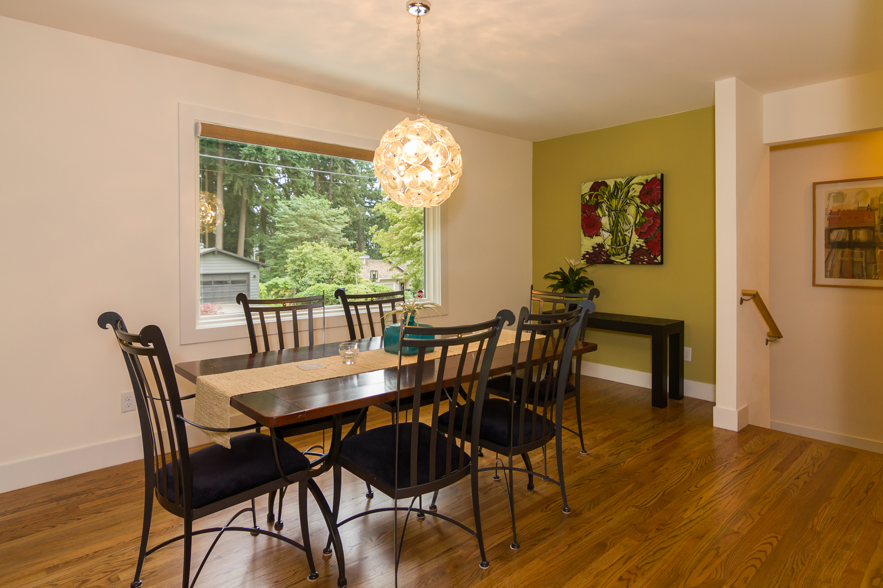 Dining Room detail with large picture window.