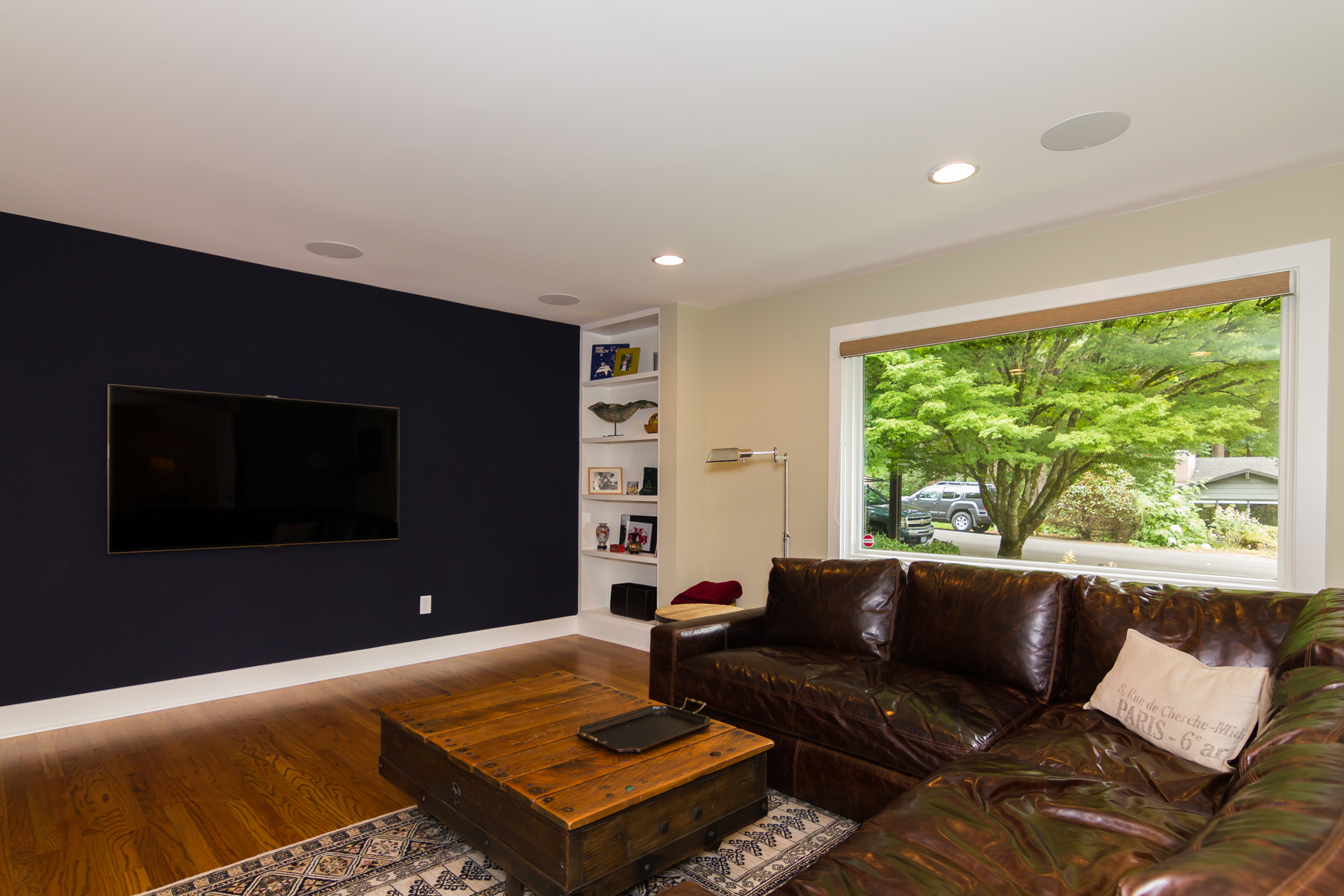 Media Room detail with built-ins