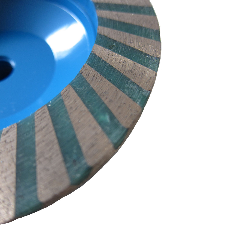 Diamond Cup Wheel w/Resin  2-in-1:Grinding & Polishing