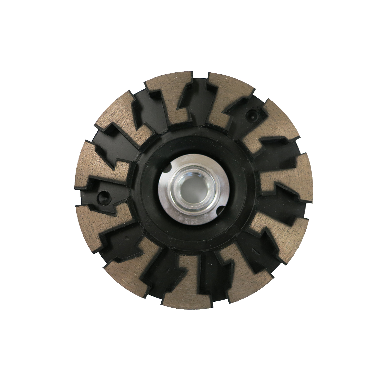 Rubber-Body Wheel - designed to counter wobble. Great on stone and concrete