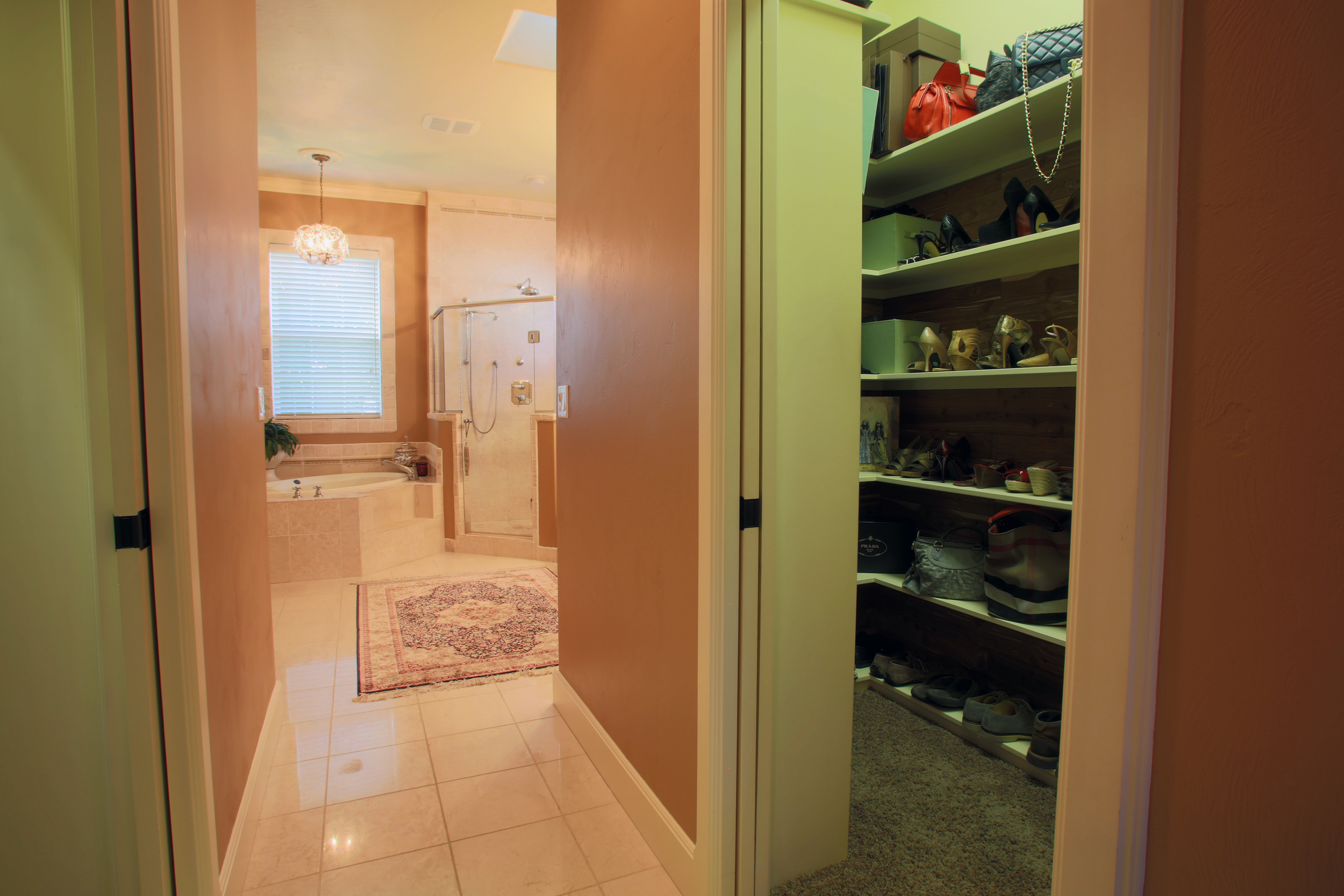 Double walk-in closets