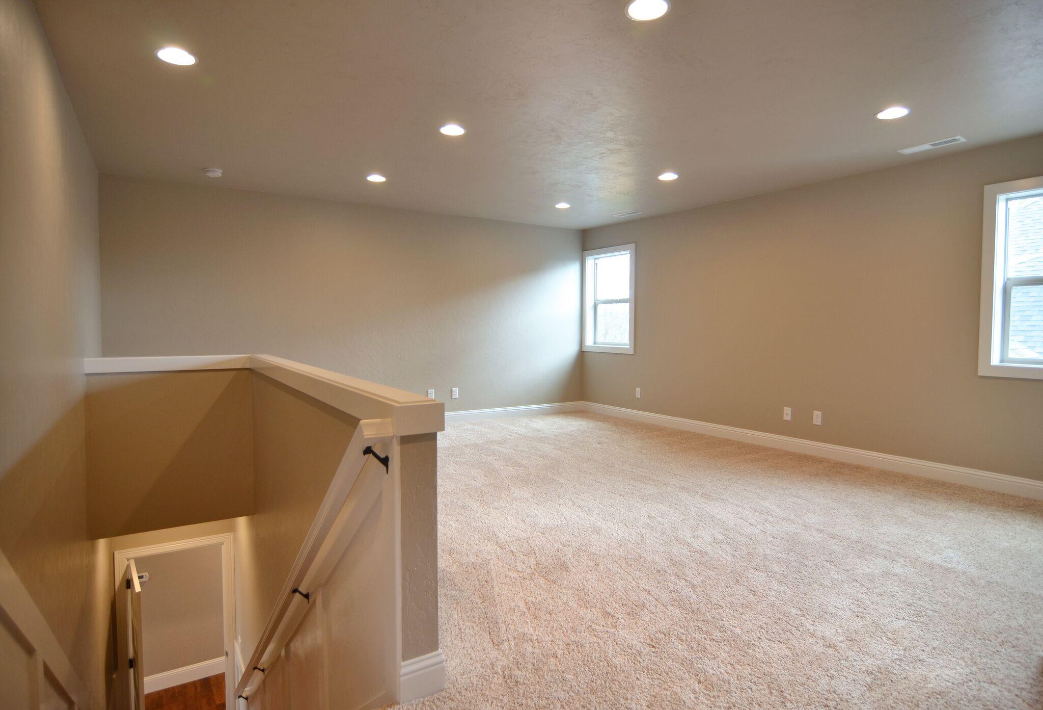 Finished upper floor