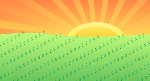 money-sunrise