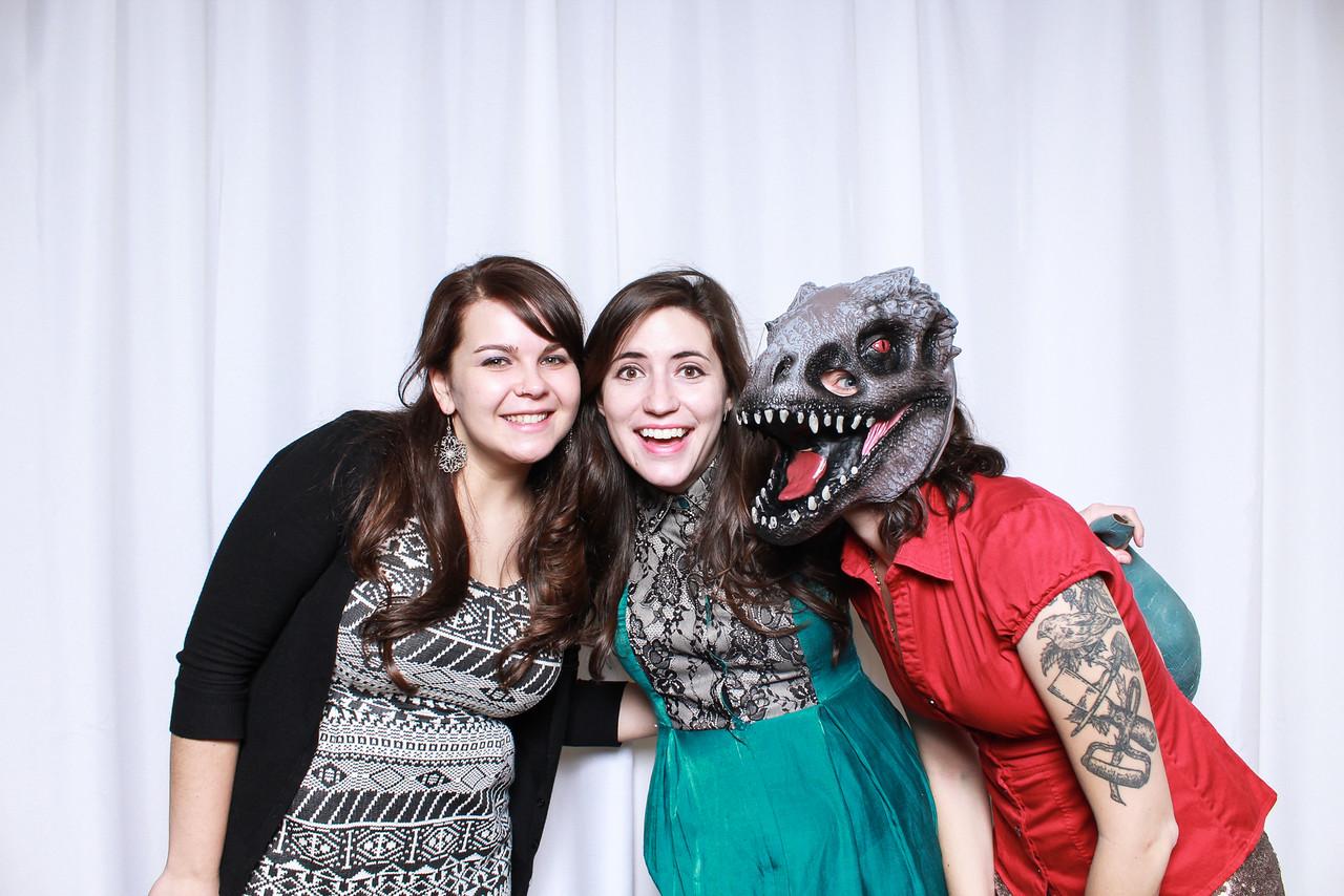 When dinosaurs crash Christmas parties...