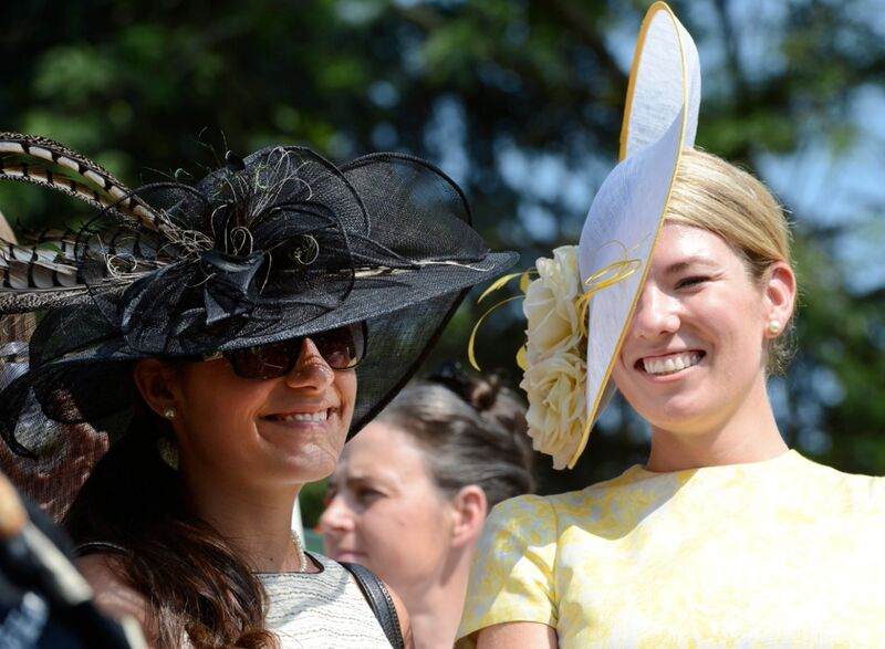 This is my friend Mary Lawlor (and me) at the Belmont in 2012. Her hat game is always ON POINT.