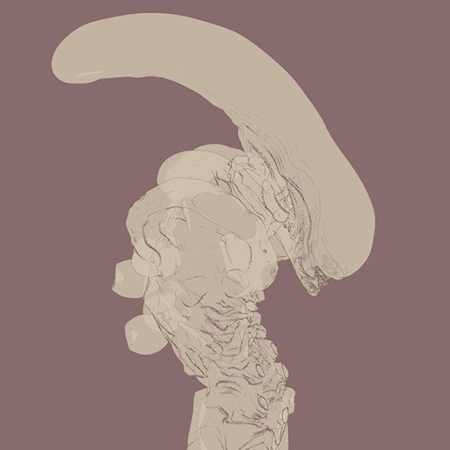 #alien #hrgiger #giger #nostromo #aliens #ridleyscott #jamescameron #art #illustation #design #rendering #render #scupt #zbrush #keyshot #sculpture #conceptart #gallery #xenomorph #facehugger #creaturedesign #monster