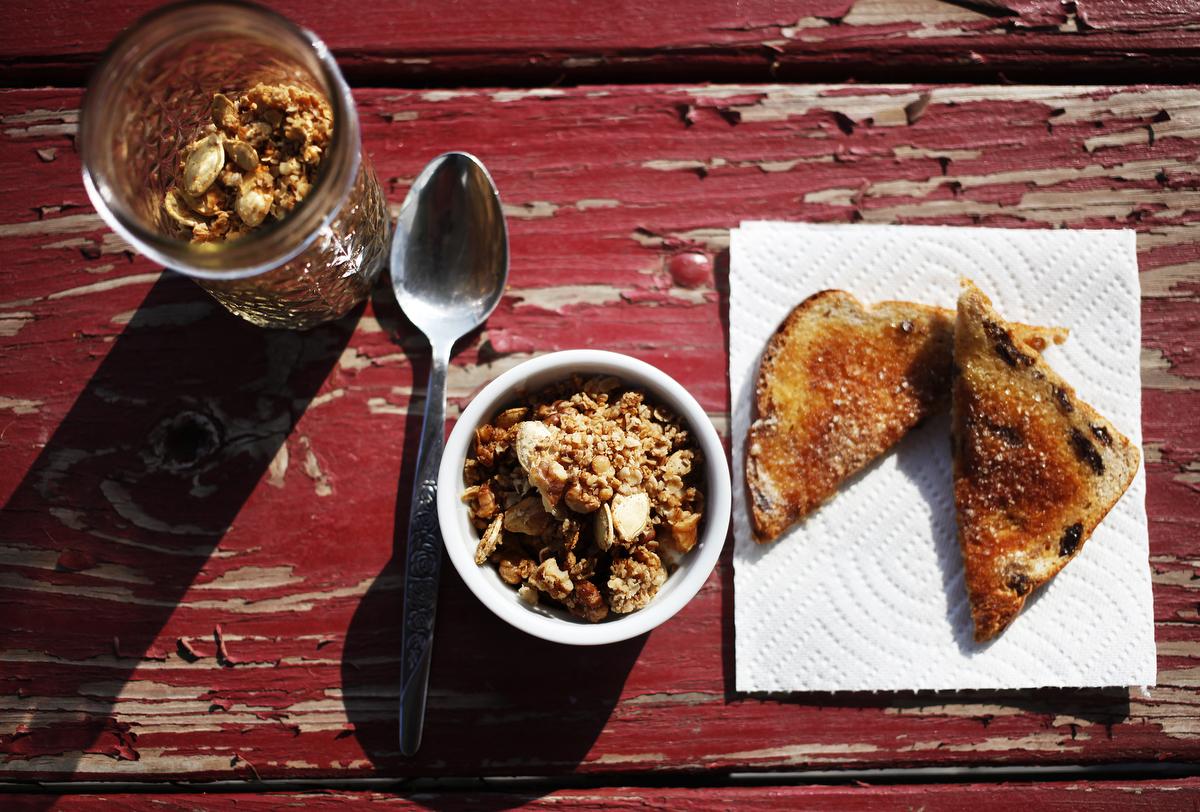 Fall-tastic pumpkin seed granola   Freckle & Fair