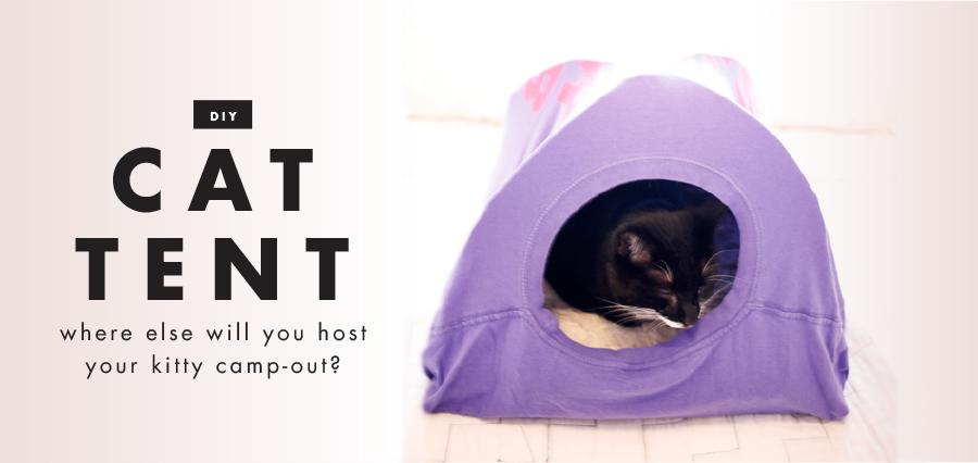 DIY: T-shirt cat tent | Freckle & Fair