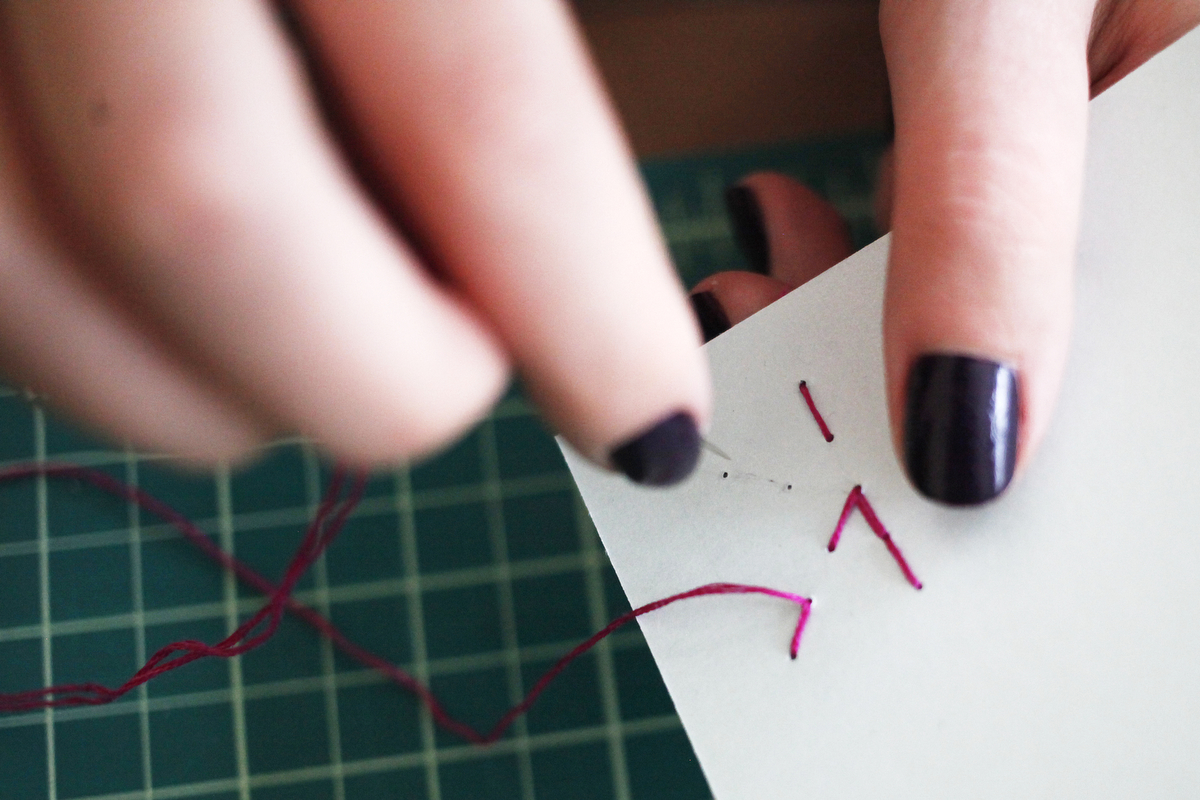 How to make color block stitched notebooks