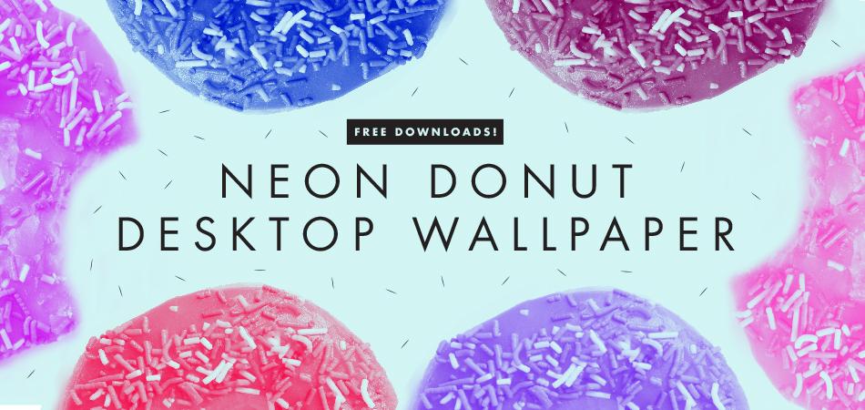 Neon donut desktop wallpaper | Freckle & Fair