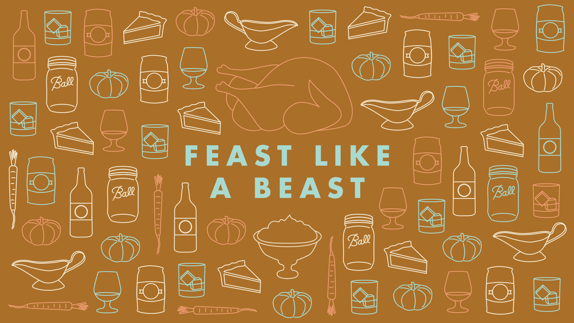 Feast Like a Beast desktop wallpaper | Freckle & Fair