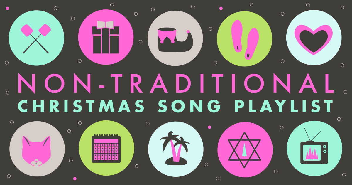 Non-traditional Christmas song playlist | Freckle & Fair