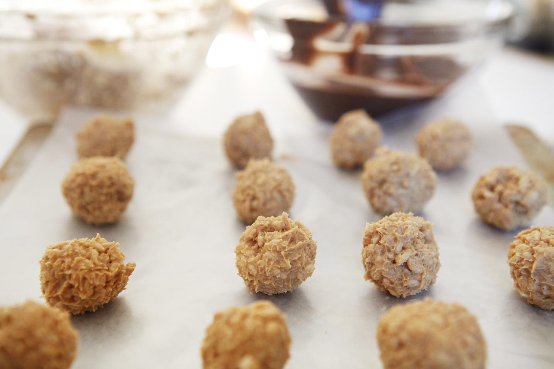 Chocolate peanut butter balls | Freckle & Fair
