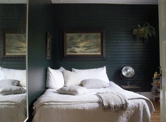 Dark, cozy bedroom