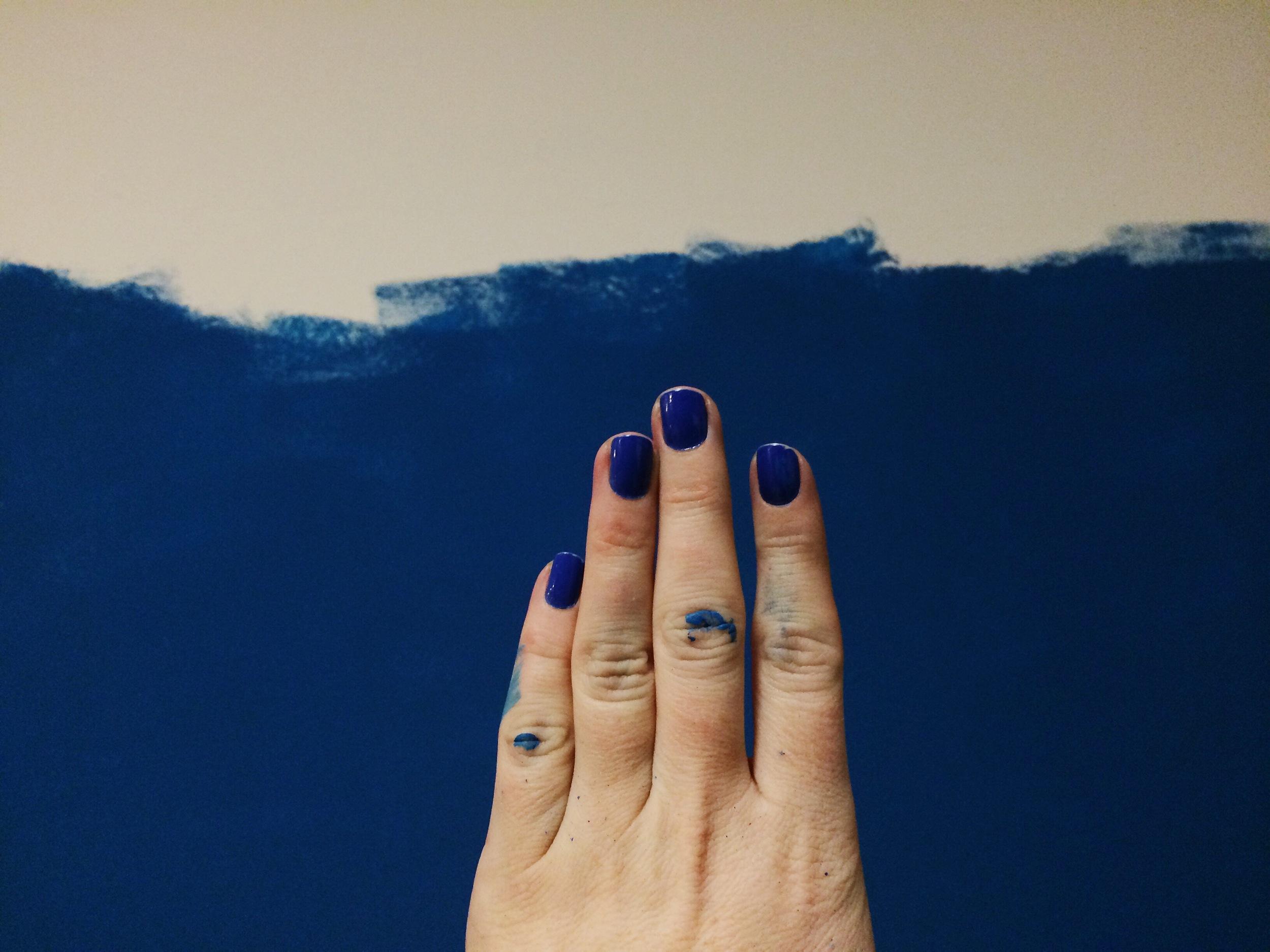 painting blue | Freckle & Fair