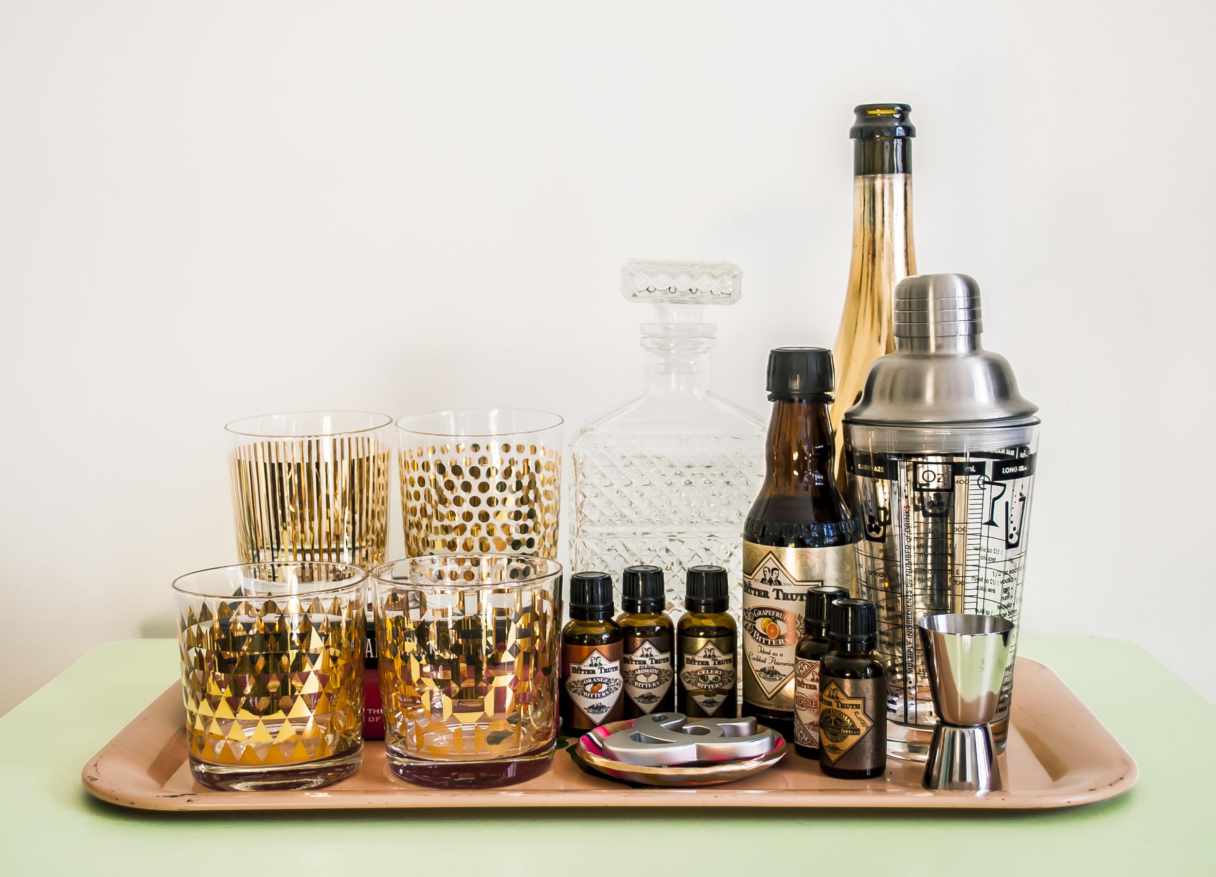 Small-space refresh: Bar cart | Freckle & Fair
