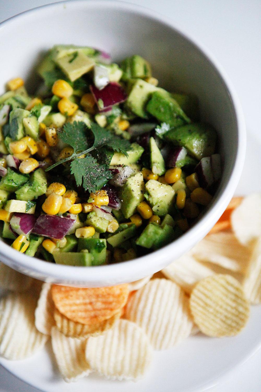 Avocado corn salsa | Freckle & Fair