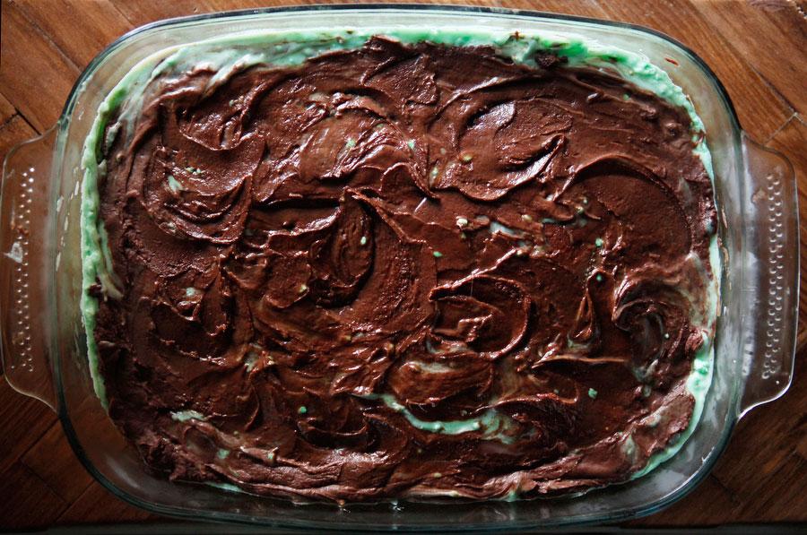 Creme de menthe brownies for St. Patrick's Day | Freckle & Fair