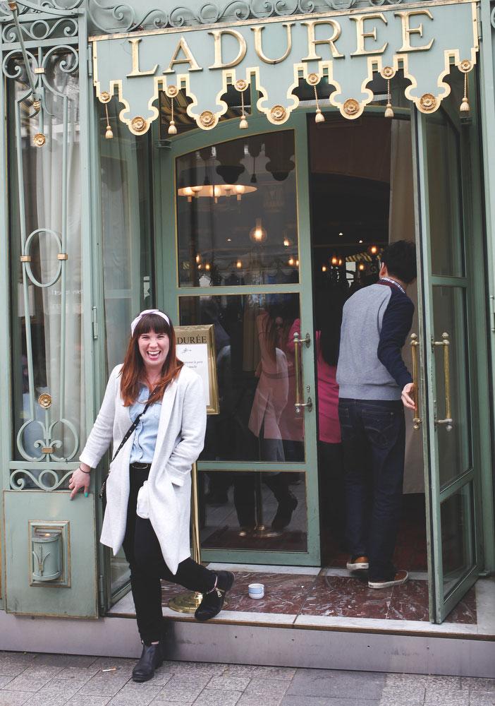 Ladurée on the Champs-Elysees in Paris | Freckle & Fair