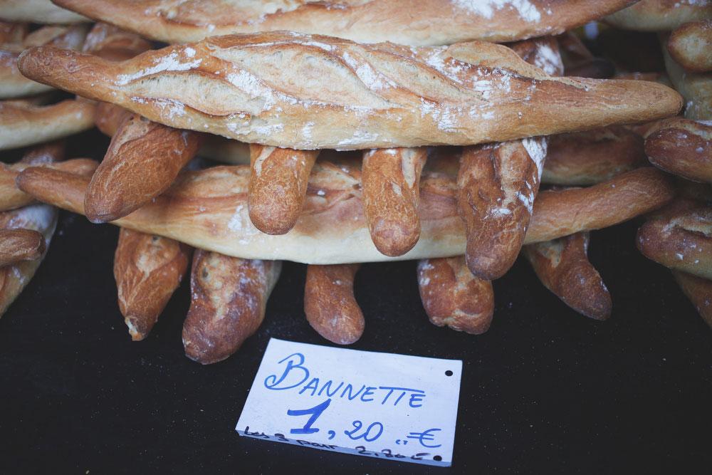 French baguettes at the Richard Lenoir market | Freckle & Fair